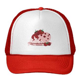 Art de fraises et de crème glacée casquettes
