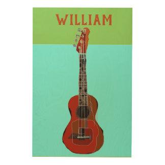 Art de grand mur personnalisé de guitare/ukulélé