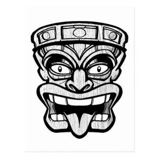 art de Hawaïen de masque de tiki Carte Postale