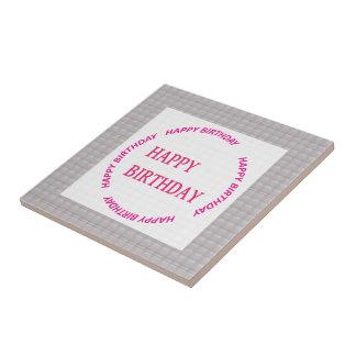 Art de joyeux anniversaire sur la tuile en pierre petit carreau carré