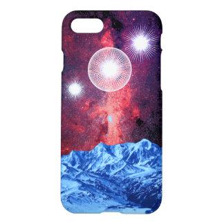 Art de l'espace d'imaginaire de montagnes de coque iPhone 8/7