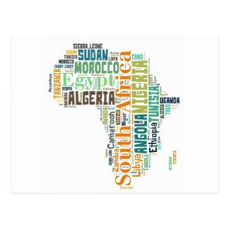 Art de mot de l'Afrique Carte Postale