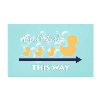 Art de mur de salle de bains de canard - toile
