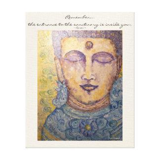 Art de mur de toile d'aquarelle de Bouddha de