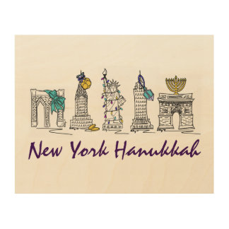 Art de mur de vacances de New York Hanoukka NYC