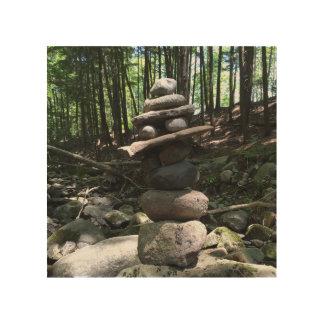 Art de mur d'équilibre de roche - fermes de