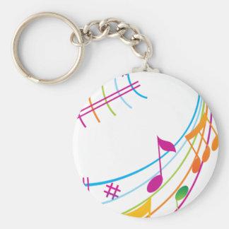 Art de musique porte-clé rond