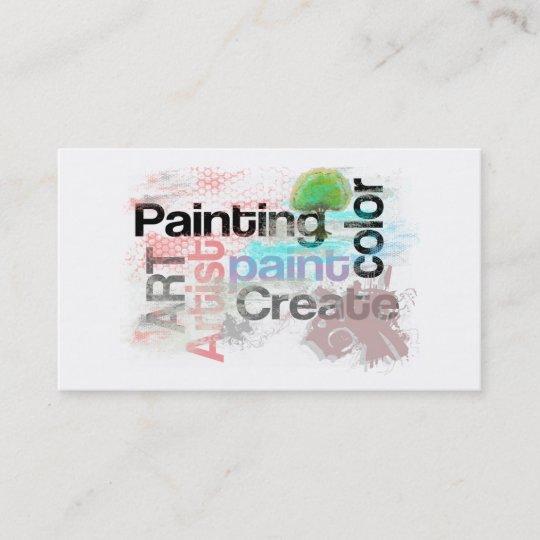 Art De Peinture Dartiste Carte Visite