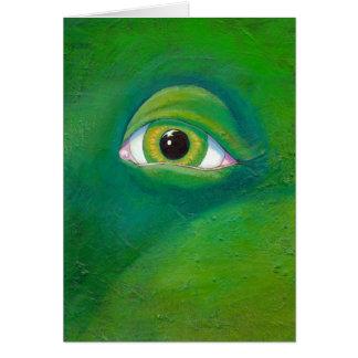 Art de peinture d'ogre de lézard de grenouille de  cartes