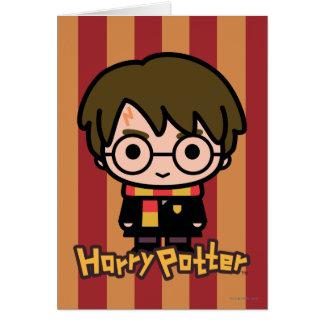 Art de personnage de dessin animé de Harry Potter Carte De Vœux