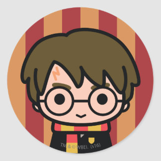 Art de personnage de dessin animé de Harry Potter Sticker Rond