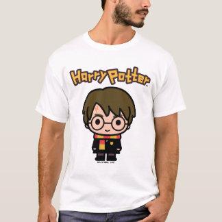Art de personnage de dessin animé de Harry Potter T-shirt