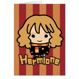 Art de personnage de dessin animé de Hermione Carte De Vœux