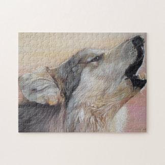 art de réaliste de peinture de faune d'hurlement puzzle