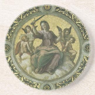 Art de Renaissance vintage, justice par Raphael Dessous De Verre En Grès