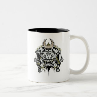 Art de tatouage de symboles d'enchanteresse du tasse 2 couleurs