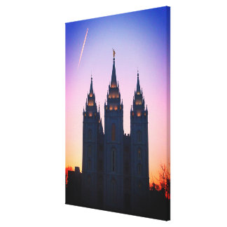 Art de temple mormon de Salt Lake City, Utah Toile