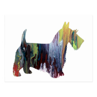Art de Terrier d'écossais Carte Postale