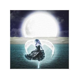art de toile d'ange de lune de goth