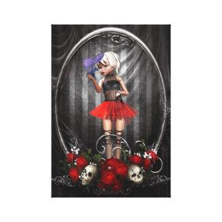 art de toile de fille de poupée de goth