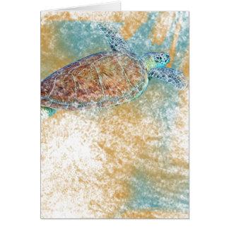 Art de tortue de mer sur des cartes de voeux de |