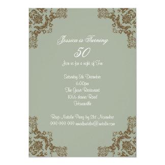 Art déco classique carton d'invitation  11,43 cm x 15,87 cm