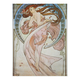 Art déco d'Alphonse Mucha Carte Postale