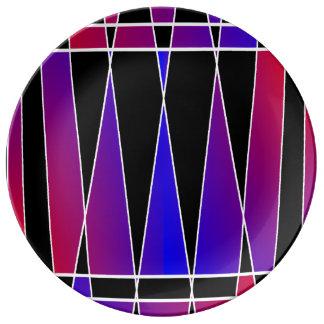 """Art déco """"rompu"""" par Kenneth Yoncich Assiettes En Porcelaine"""