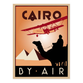 Art déco vintage de voyage de l'Egypte Carte Postale