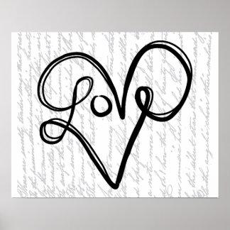 Art des textes de typographie d'amour