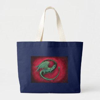 art d'imaginaire de dragon de bébé sac en toile jumbo
