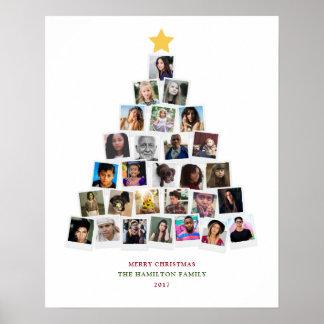 Art d'instantanés d'arbre de Noël Poster