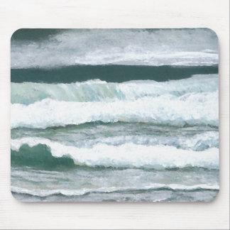 Art d'océan de CricketDiane de plage de vagues Tapis De Souris