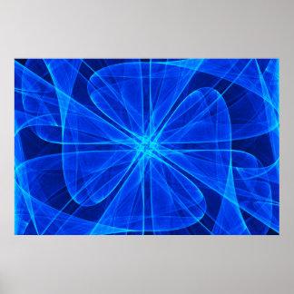 Art d'ordinateur bleu de propulseur abstrait de poster