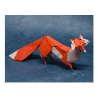 Art d'origami de Fox Carte Postale