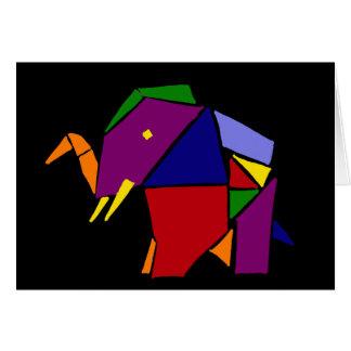 Art d'origami d'éléphant d'amusement carte