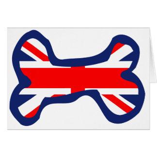 Art d'os de chien de drapeau d'Union Jack Carte De Vœux
