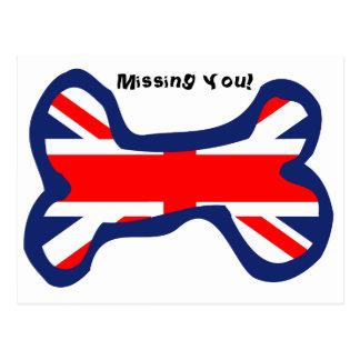 Art d'os de chien de drapeau d'Union Jack Carte Postale