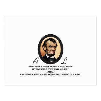Art d'ovale de Lincoln Carte Postale
