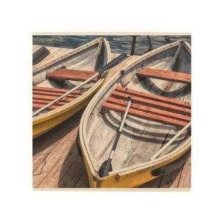 """Art en bois 8"""" de mur x8"""" - les bateaux"""