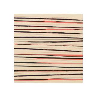Art en bois de mur avec les rayures élégantes de