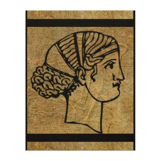 Art en bois de mur d'antiquité antique grecque