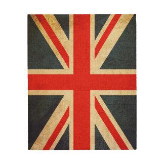 Art en bois de mur de drapeau britannique vintage