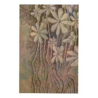 Art en bois de mur de fleurs