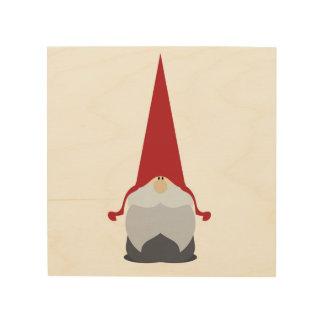Art en bois de mur de gnome de Noël