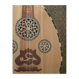 Art en bois de mur de luth du Moyen-Orient d'Oud