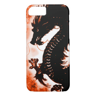art en bois Nouveau d'imaginaire de dragon de Coque iPhone 8/7