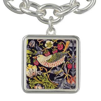 Art floral Nouveau de voleur de fraise de William Bracelets Avec Breloques