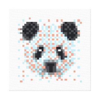 Art frais de pixel de panda toile