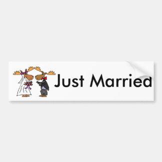 Art génial drôle de bande dessinée de mariage autocollant de voiture